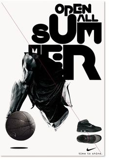 Non-Format - Nike – Open All Summer #design #poster #typography