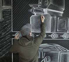 Sierra Nevada Chalk Mural by Ben Johnston - JOQUZ #mural