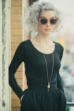 thelemongrove: Annie Clark, St. Vincent Photographed by Rachael Wright #trousers #in #look #black