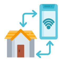 See more icon inspiration related to smart, home automation, smart home, real estate, electronics, mobile phone, buildings, home, smartphone, cellphone and technology on Flaticon.