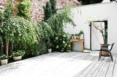 Scandinavian patio. Adaptation of a Forge by Loft Kolasiński. © Karolina Bak. #patio #sideyard #containergarden