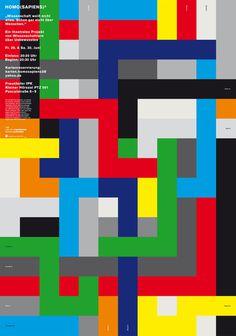 HOMO(SAPIENS)³, Johannes Ammler #poster #graphic #grid #color