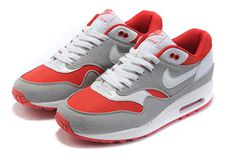 Mens Running Shoes with Colorways Grey & Red Air Max 1 #shoes