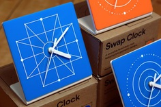 Swap Clock designed by Will Mower #clock #modern #decor