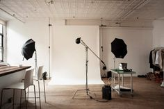Tumblr #interior #white #lights #black #wood #photography #studio