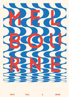 Melbourne #print #design #graphic #poster