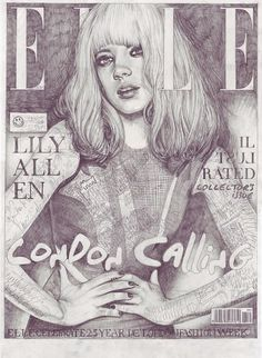 John Paul Thurlow, Covers | The Import Design Blog #elle #illustration #lily #allen