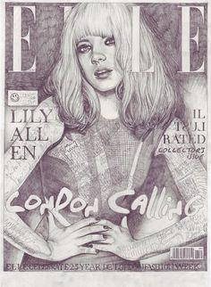 John Paul Thurlow, Covers | The Import Design Blog #elle #illustration #lily #allen