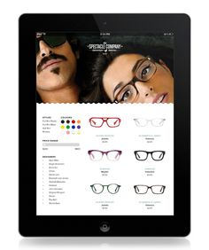 The Spectacle Company #glasses #design #interface #ui #website #eyewear #mobile #web