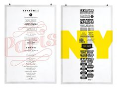 Paris - New York 2011 | La Vittoria | Work | lg2boutique #design #graphic #poster #typography