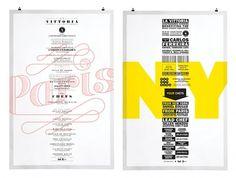 Paris - New York 2011 | La Vittoria | Work | lg2boutique #design #graphic #poster #typography