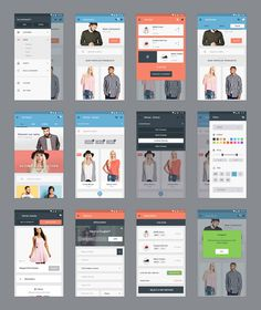 Free Ecommerce Apps UI Kit PSD