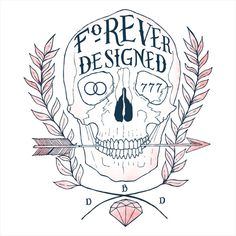 My Heart May Fail #diamond #design #by #illustration #arrow #skull #drawing