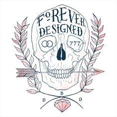 My Heart May Fail #diamond #design #by #illustration #arrow #skull #drawing