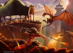 Fantasy Illustrations by Jon Hrubesch