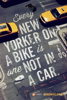 Bike Like a New Yorker4 #bicycle #typography #bike #street #york #nyc #new