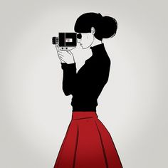 Silence Television - Blog #girl #television #camera #silence #illustration