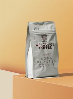 Coffee Package Mockup Scene #coffee #package #brand #label #doypack #cafe #drink #design #presentation