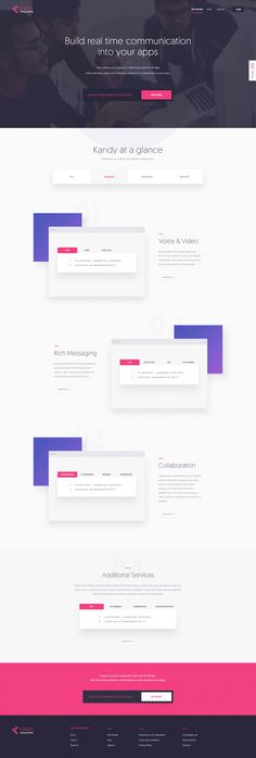 Kandy Developers Landing Page by KREATIVA Studio