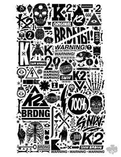 K2 Snowboarding x DXTR / Vandal 12/13 on the Behance Network #illustration #typeface #poster