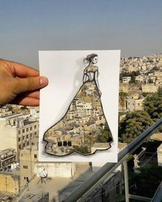 Artist Uses Surroundings to Create His Fashion Paper Cut-Outs - FREEYORK
