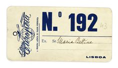 hueandsaturation:nnLuggage label from Europeia - the main Portuguese travel agency. 1940s.