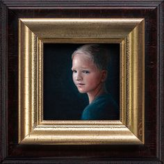 Rens & Iselle made by Robbin Veldman http://www.robbinveldman.nl #tiny #small #framing #wood #rembrandt #detail #childre #acrylic #frame #holland #boy #robbin #iselle #paint #vermeer #gold #realistic #miniature #nijverdal #netherlands #classic #kid #child #painting #lighting #dutch #rens #drama #portrait #art #dramatic #veldman #masters