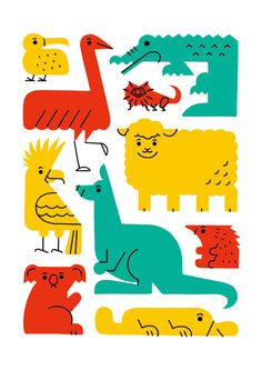 illustration, animals, shunsuke satake