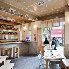 Dezeen » Blog Archive » Cantina de Comida Mexicana by Taller Tiliche #interior #design #restaurant #industrial #architecture #tiliche #taller