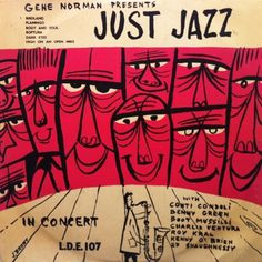 Cover Me, I'm Going In | Record Cover Art | Gene Norman – Just Jazz #record #jazz #cover #vinyl