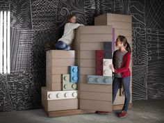 Lego furniture for children's rooms, by Lola Glamour - www.homeworlddesign.com (8) #furniture #kidsrooms #lego