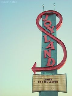 joyland sign | Flickr - Photo Sharing! #sign #typography