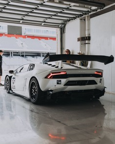 White Lamborghini Coupe