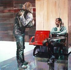 dan voinea - gallery #interior #figure #painting