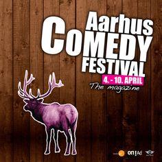 Ã…rhus Comedy Festival #deer #reindeer #structure #wood #comedy #poster #moose