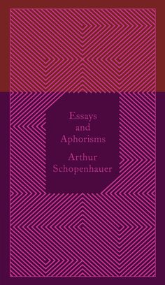 Penguin Classics Essays And Aphorisms: Arthur Schopenhauer: 9780141395913: Books - Amazon.ca #cover #schopenhauer #book #arthur
