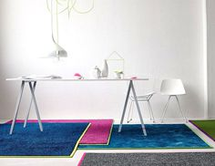 Color Carpeting with Glossy Effects by Object Carpet trendy neon object carpet 2 #rugs #carpets #design #furniture