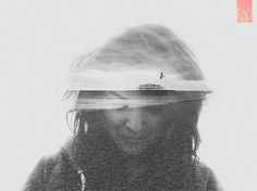 DOUBLE EXPOSURE PORTRAITS on the Behance Network