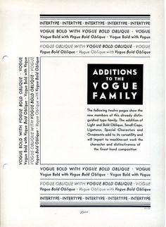 Vogue type specimen