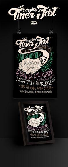 Typographic festival flyer