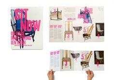 Collate #chairs #pink #bold #furniture #typography