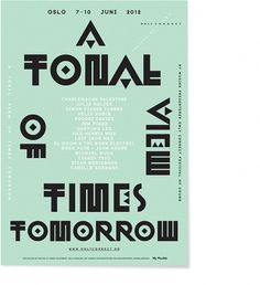 Non-Format - Only Connect Festival of Sound #typography