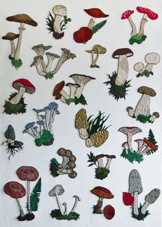 Mushrooms-Embroidery2012.jpg #embroidery #pattern #mushrooms