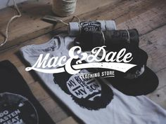 Logo Mac And Dale #lettering #design #brand #identity #logo