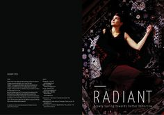 Radiant zeen #zeen #fanzine #radiant #photography #fashion #layout #magazine