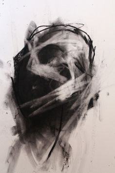 tumblr_ll45c922rx1qc5rdlo1_500.jpg 467 × 700 Pixel #black and white #painting #scull