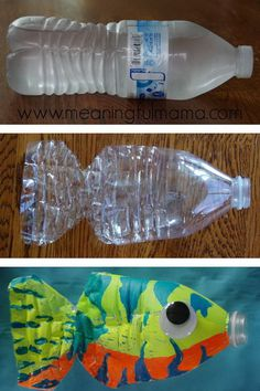 This water bottle fish craft is both easy and fun for kids of all ages. #diy #fish #sea