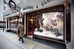 Turnbull & Asser Beatles window display design