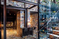Restaurant in Danmark with patchwork pavements & tiles #patchwork #pavements #tiles #pavimenti #rivestimenti