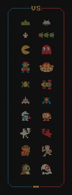 "OMG Posters! » Archive » ""VS."" Art Print by DKNG #sprites #classic #video #games #8bit"